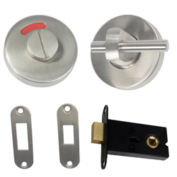 400 Series: Stainless Steel Concealed Fix Off-set Morticed Lock & Indicator Set